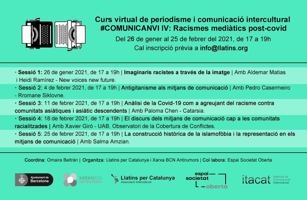 Curs Virtual de Periodisme i Comunicació Intercultural #ComuniCanvi IV