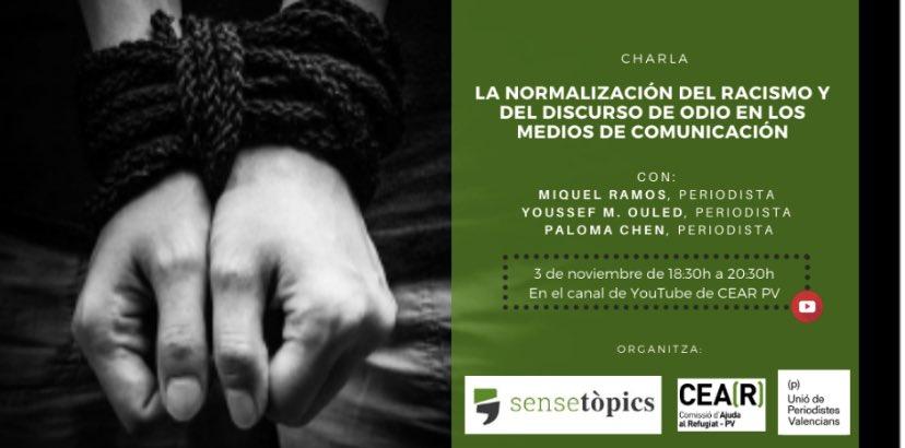 Charla OnLine «La normalización del racismo y el discurso del odio en los medios de comunicación»
